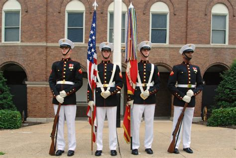 marine color file united states marine corps color guard in front of