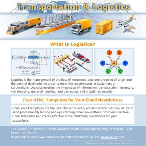 Logistics Free Html E Mail Templates Free Marketo Email Templates