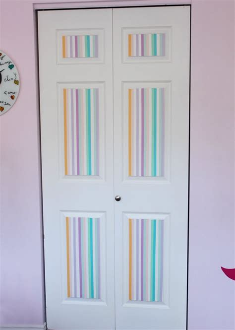 how to decorate your bedroom door interior doors decorating with washi furnish burnish
