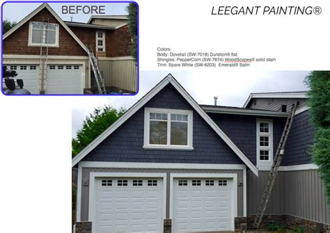 emerald exterior paint reviews dovetail sw 7018 house painting in sammamish bellevue