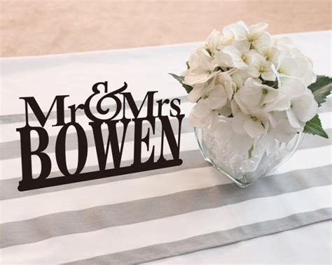 mr mrs sign for wedding table mr and mrs table signs pixshark com images