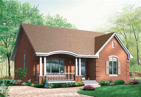 Small Brick House Plans by Popular Brick House Plan With Alternates 21275dr
