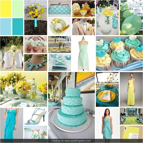 17 Best images about Yellow/Mint Wedding on Pinterest