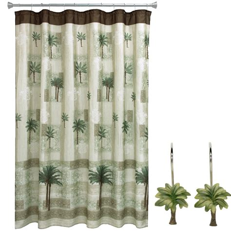 palm tree shower curtain hooks com bacova guild citrus palm bath rug 20 quot x 33