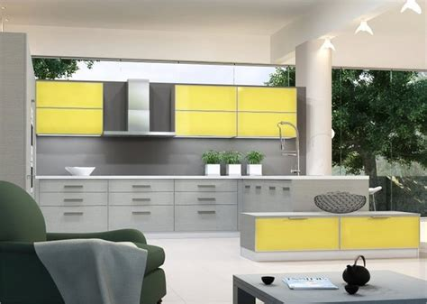 Yellow And Grey Kitchen by Modern Yellow And Grey Kitchen Ideas