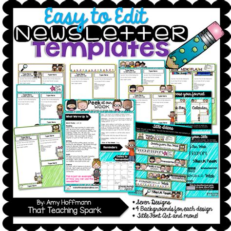 newsletter templates for blogger editable newsletter pack and winners that teaching