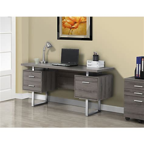 Retro Computer Desk Monarch Retro Style Computer Desk 30 H X 60 W X 24 D Taupe By Office Depot Officemax