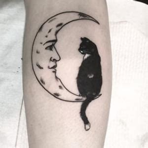 cat and moon tattoo crescent moon tattoos my crescent moon my style
