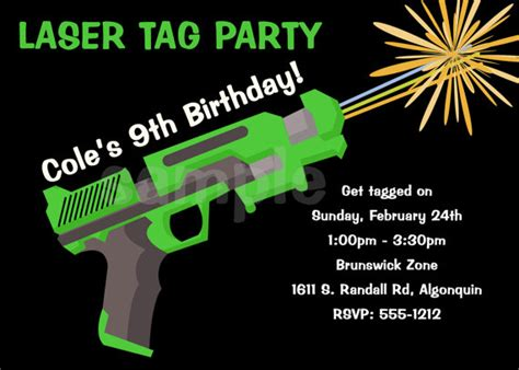 laser tag birthday invitations ideas free bagvania free