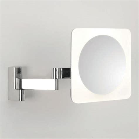 Illuminated Magnifying Bathroom Mirrors Bathroom Vanity Mirror With Led Light Adjustable 5 X Magnification