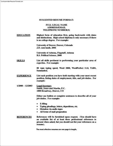 Wordperfect Resume Templates wordperfect resume templates free sles exles format resume curruculum vitae free