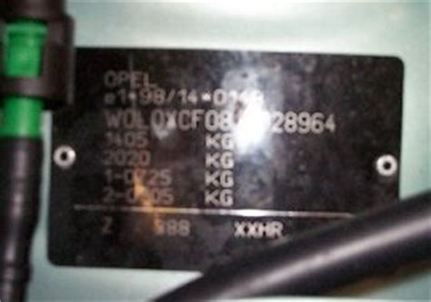 vauxhall corsa vin number vehicle identification chassis number locations and vin decoder vin