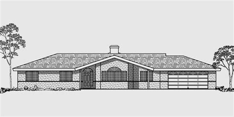 single level ranch house plans single level house plans ranch house plans 4 bedroom house plan