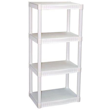 walmart white shelves plano 4 tier heavy duty plastic shelves white walmart