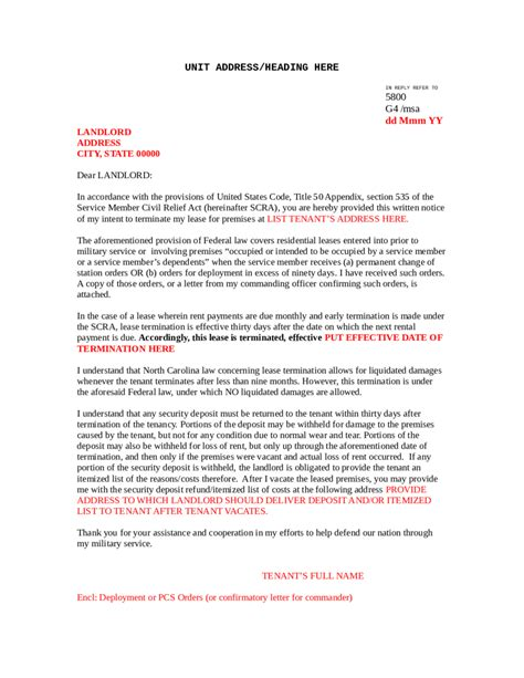 lease cancellation letter uk 5 commercial lease termination letter templates word