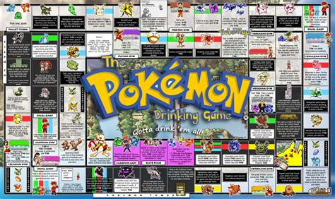 printable drinking board games the pokemon drinking game v2 0 by vincentvang on deviantart