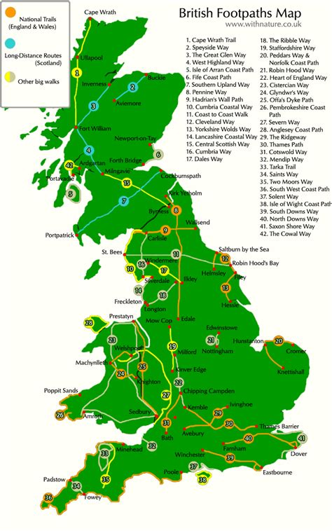 Home Design Websites Uk by Interactive Map Of British Footpaths Uk