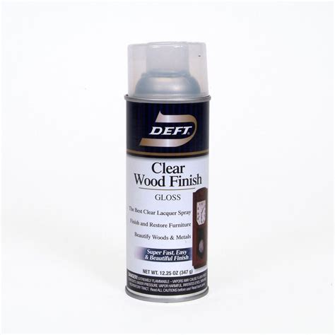 deft 1 aerosol gloss interior clear wood finish lacquer