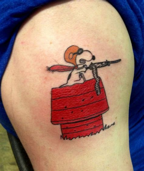 snoopy with gun tattoo tattoomagz