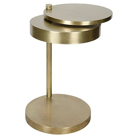 brass side table aston modern antique brass revolving circular discs side table