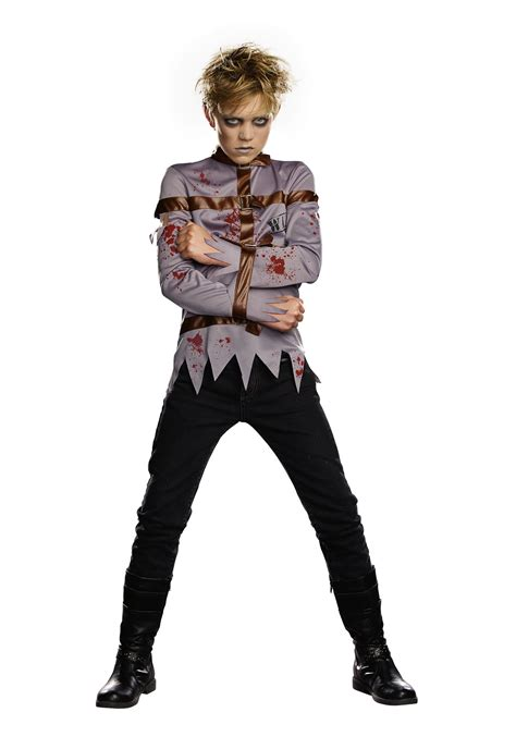 boys dark straight jacket costume