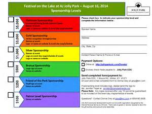 for sponsorship for an event sponsorship for festival at the lake event jolly park