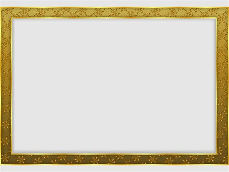 frame template gold snowflake frame backgrounds presnetation ppt