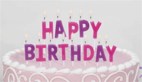 happy birthday kuchen happy birthday kuchen kerzen set pink violett