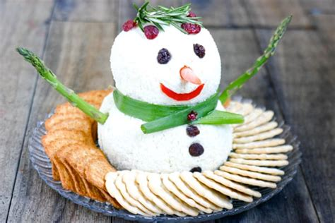 eclectic recipes snowman cheese ball eclectic recipes