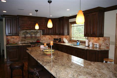U shaped dark mahogany wood kitchen cabinets for white appliances elegant homes showcase