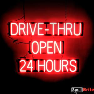 tattoo shops open 24 hours drive thru open 24 hours sign spellbrite led vs neon
