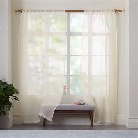 sheer linen curtain sheer linen curtain ivory west elm