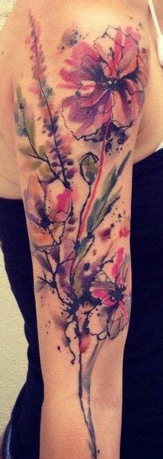 watercolor tattoo wildflowers my next ideas on watercolor tattoos