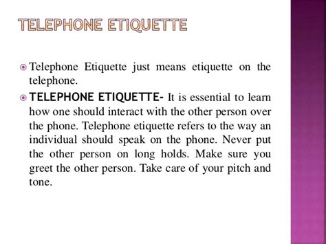 7 Crucial Tips On Telephone Etiquette by Telephone Etiquette Manners Including Emerging Trends