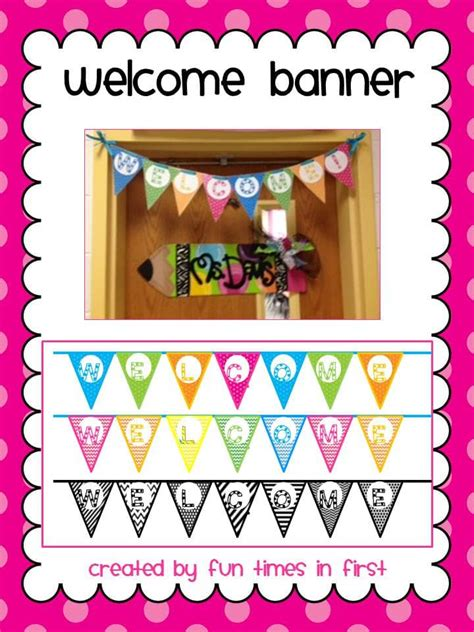 printable welcome banner for classroom top 5 freebies of the week 8 17 13