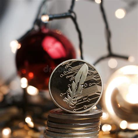digital metal christmas feather gold coin stock photo image of security profit 104472370