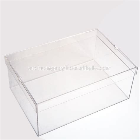 clear box shoe storage transparent acrylic nike shoe box buy clear shoe box