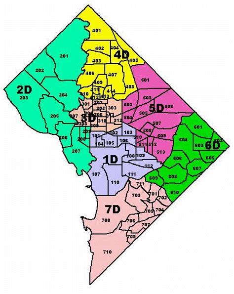 washington dc psa map mpd proposed new psa boundaries january 12 2004