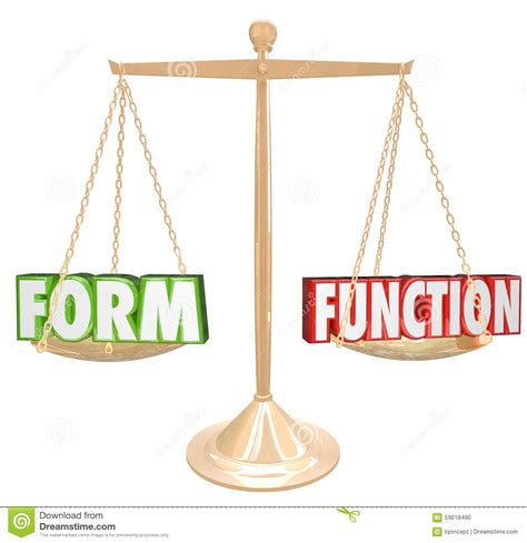 design form vs function form over vs function words gold scale style substance