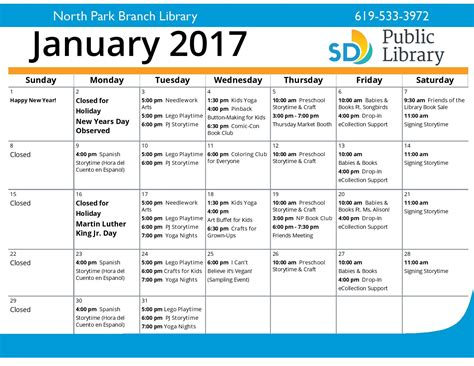 the library of virginia calendar of events january 2016 january events calendar the friends of the north park