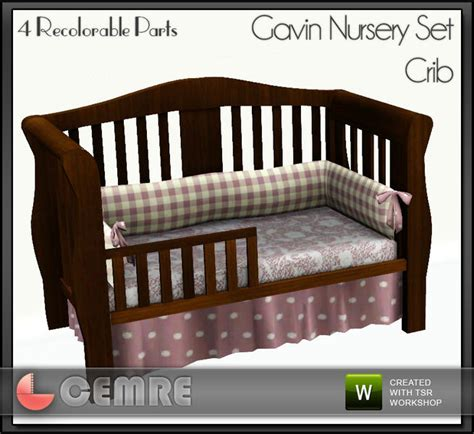 Sims Freeplay Baby Crib by Cemre S Gavin Nursery Set Crib