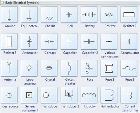 basic electrical symbols