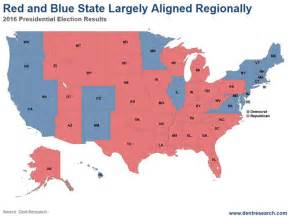 Map Of Blue And Red States by Red States Vs Blue States What S Next A Third And