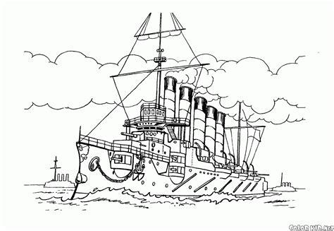 barcos de guerra para colorear e imprimir dibujo para colorear barcos