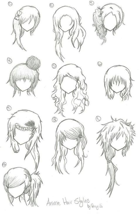 girl hairstyles deviantart hairstyles anime manga drawing art bun curly