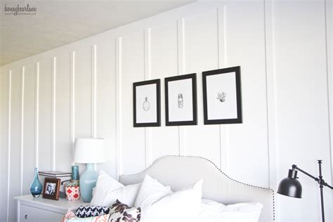 Wall Painting Ideas For Bedroom by Floor To Ceiling Board And Batten Tutorial Honeybear Lane