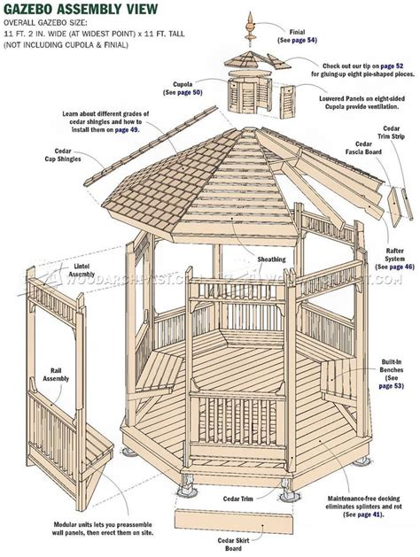 gazebo plans free best 25 gazebo plans ideas on diy gazebo diy