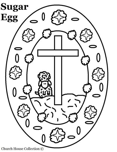 coloring pages for easter cross church house collection sugar egg with cross and