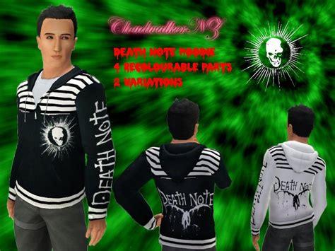 Hoodie Deathnote B W cloudwalkernz s note hoodie