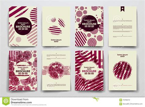 poster design kit set of brochure poster design templates in abstract